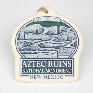 Aztec Ruins National Monument Ceramic Ornament
