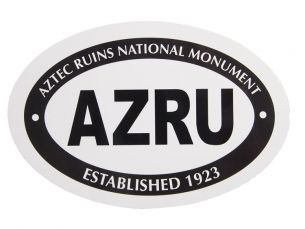 Aztec Ruins National Monument Euro Oval Sticker