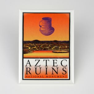Aztec Ruins National Monument Magnet - Logo