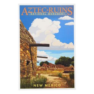 Aztec Ruins National Monument Postcard - Illustration