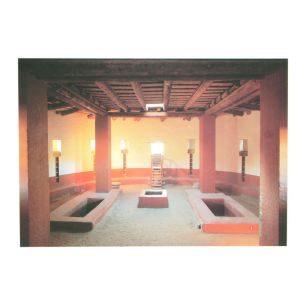 Aztec Ruins National Monument Postcard - Kiva Interior