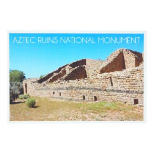 Aztec Ruins National Monument Postcard - Western Wall