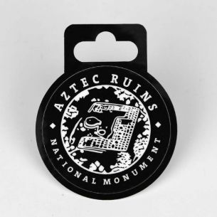 Aztec Ruins National Monument Sticker - Round Monochrome