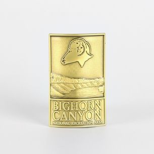 Bighorn Canyon National Rec. Area Hiking Stick Medallion - Logo