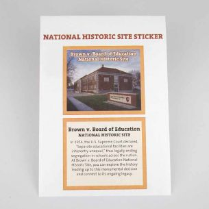 Brown v. Board of Education National Hist. Site Park Sticker