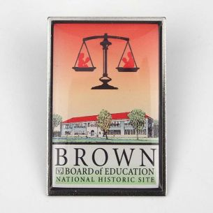 Brown v. Board of Education National Hist. Site Pin - Logo