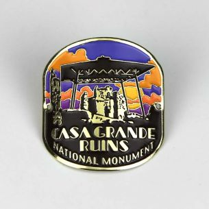 Casa Grande Ruins National Monument Hiking Stick Medallion - Big House