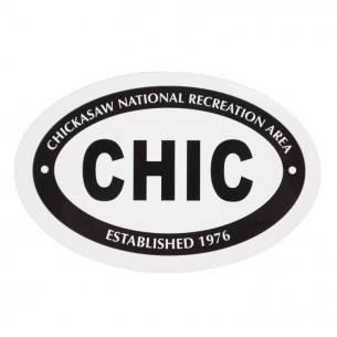 Chickasaw National Rec. Area Sticker - Euro Oval