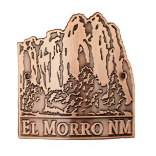 El Morro National Monument Hiking Stick Medallion - Copper Bluff