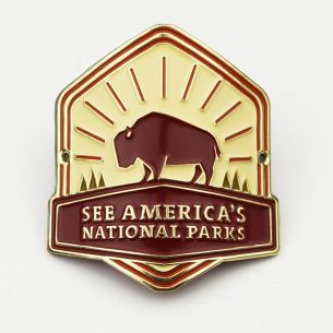 See America's National Parks Hiking Stick Medallion
