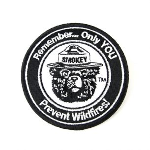 Smokey Bear Patch - Round
