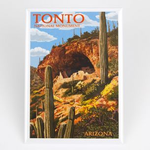 Tonto National Monument Magnet - Illustration